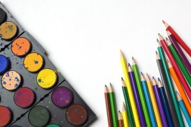 aquarelle et crayons