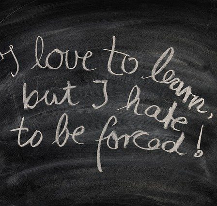 i love to learn but i hate to be forced