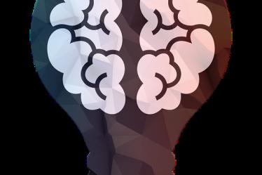 dessin d'une ampoule avec un cerveau dedans